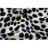 Quickfabric - Polyester Kunstfell Schnittstoff - Dalmatiner Punkte