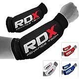 RDX - Protección de antebrazo acolchada para boxeo y MMA, fibra de carbono, con velcro, color blanco