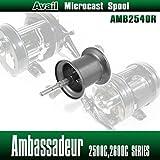 【Avail/アベイル】 【Abu/アブ】 Ambassadeur/アンバサダー用 NEW軽量浅溝スプール Avail Microcast Spool AMB2540R ガンメタ