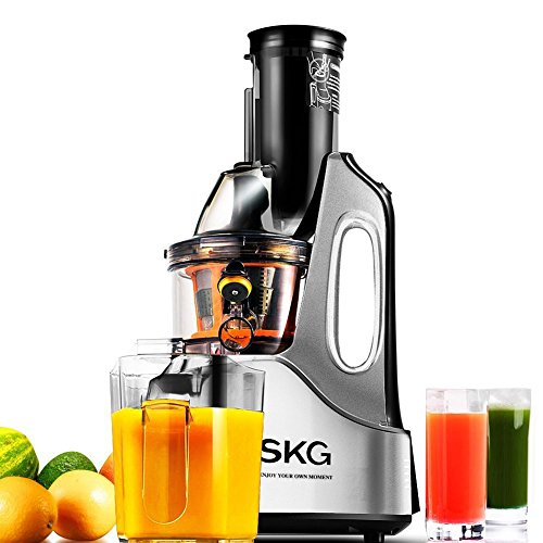 Cheapest Prices! SKG New Generation Wide Chute Anti-Oxidation Slow Masticating Juicer (240W AC Motor...