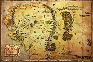 GB eye 61 x 91.5 cm the Hobbit Map Maxi Poster