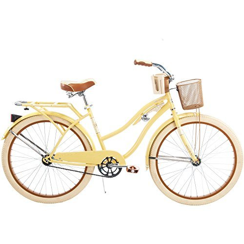 26-Huffy-Nel-Lusso-Womens-Cruiser-Bike-Butter-Yellow