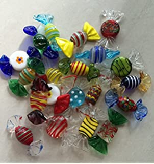 Amazon.com: 12 Pcs Murano Art Glass Candy Candies Sweets ...