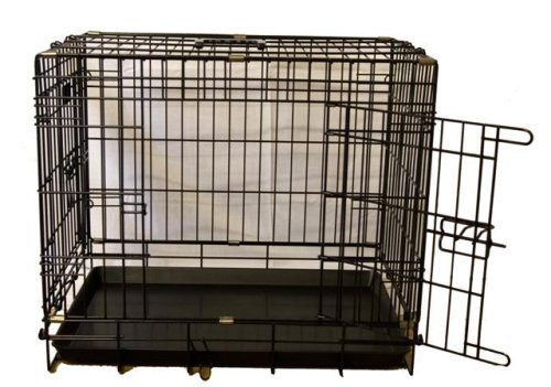 2 door fold flat dog cage 30