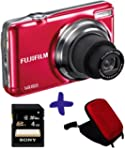 Fuji JV500 appareil photo rouge + �tu...