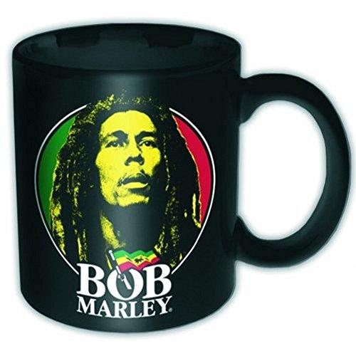 Bob Marley-Tazza in ceramica-Logo Face-confezionato in una confezione regalo.