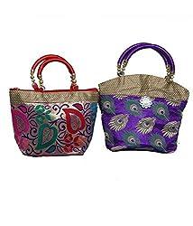 Kuber Industries Handbag in stylish design 2 Pcs Combo, Wedding Gift