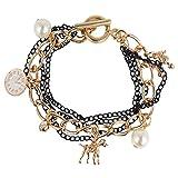 Shining Diva Circular Animal-shaped Charms bracelets for girls