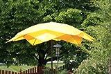 9' Wind Resistant Lotus Fiberglass Patio Umbrella - Yellow