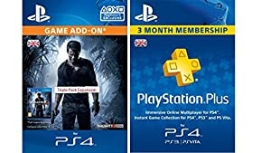 Uncharted 4 Triple Pack + PlayStation Plus Membership - 3 Month [PS4 PSN Code - UK account] by SCEE Internal