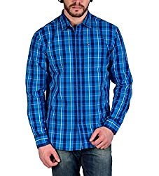 Enryca Men's Casual Shirt(ENMSH 0099BLUE -M_Blue_40)