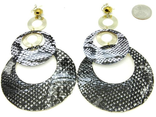 EARRING FISH HOOP THEME BLACK Fashion Jewelry Costume Jewelry fashion accessory Beautiful Charms