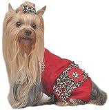 Max s Stylism Boutique Armoire à volants Motif léopard pour chien, taille M