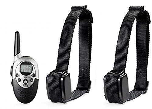 Namsan Lcd Display Remote Control Pet Dog Training Collar Rechargeable Waterproof For 2 Dogs