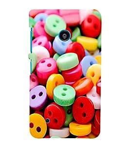 ASSORTED MULTICOLOURED BUTTONS 3D Hard Polycarbonate Designer Back Case Cover for Nokia Lumia 530 :: Microsoft Lumia 530