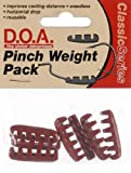 DOA CAL Pinch Weight 1/4oz 7 per pk Red #CAL-PW14-Red