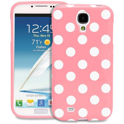 Galaxy S4 Case - Fosmon Dura Series Slim-Fit Case Protective Skin Cover For Samsung Galaxy S4 Iv / I9500 - Polka Dots (Baby Pink)