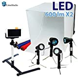 "LimoStudio 24"" Folding Photo Box Tent LED Light Table Top Photography Studio Kit, AGG1071"