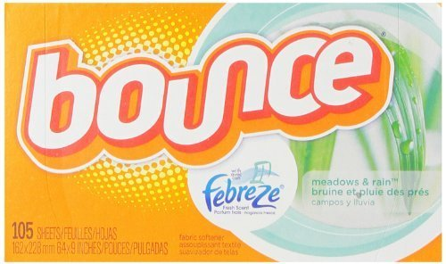 Bounce With Febreze Meadows & Rain Sheets, 105 Count (Pack of 3) by Bounce (Bounce Meadows And Rain compare prices)
