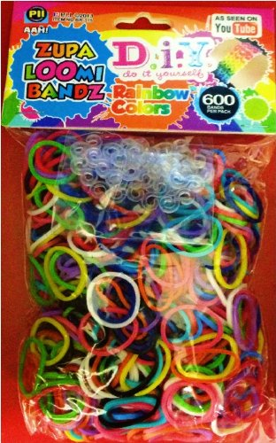 Zupa Loomi Bandz Rainbow 600 Color Refills with S-clips - D.I.Y. - Works With Rainbow Loom - 1
