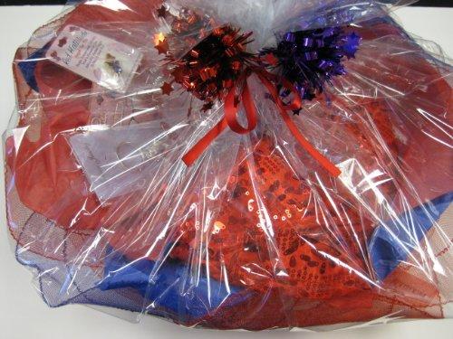 Red Hat Ladies GIFT BASKET/ Value $85.00 for $39.99/ 2Hats,car magnet,keychain,earrings,angel pin,bracelet,2pens