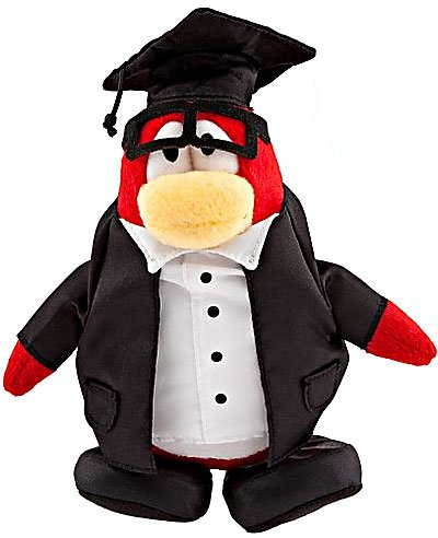 Buy Low Price Jakks Pacific Disney Club Penguin 6.5 Inch Series 8 Plush Figure Graduate Includes Coin with Code! (B003R2YFC2)