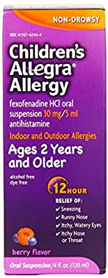 Allegra Childrens 12 Hour Allergy Relief, Berry, 4-Ounce