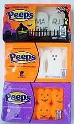 Halloween Peeps Assortment Pumpkins, Tombstones and Ghosts