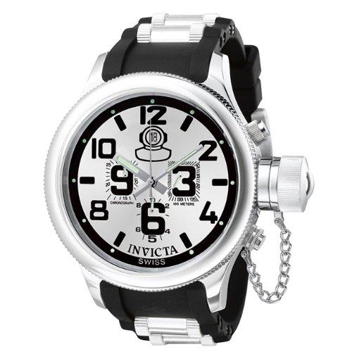 Invicta Men's 0246 Russian Diver Collection Chronograph Black Rubber Watch