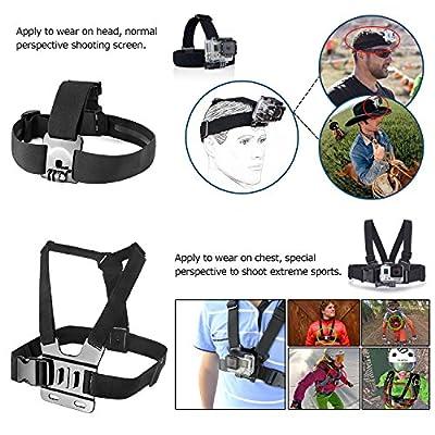 Zookki Essentiell Zubehör Kit für GoPro Hero 4 3+ 3 2 1 Black Silver Zubehör Set für GoPro 4 3+ 3 2 1 und SJ4000 SJ5000 SJ6000, Kamera Zubehör Set für GoPro Hero4 Hero3+ Hero3 Hero2