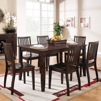 Steve Silver Candice 7 Piece Rectangular Dining Room Set in Dark Espresso