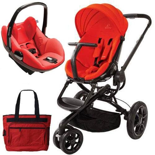 Quinny Cv078Bhr Moodd Prezi Travel System With Diaper Bag And Car Seat - Red Envy