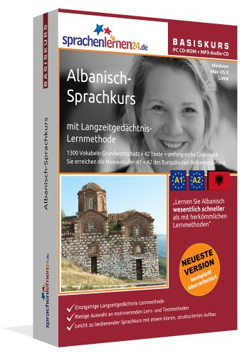 Sprachenlernen24.de Albanisch-Basis-Sprachkurs: PC CD-ROM für Windows/Linux/Mac OS X + MP3-Audio-CD für Computer /MP3-Player /MP3-fähigen CD-Player