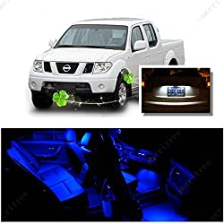 See Ameritree Blue LED Lights Interior Package + White LED License Plate Kit for Nissan Frontier 2005-2014 (6 Pieces) Details