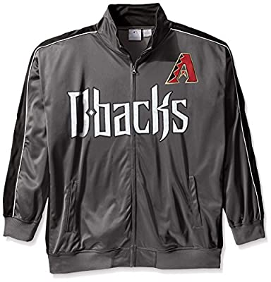 MLB Big and Tall Men's Team Reflective Tricot Track Jacket
