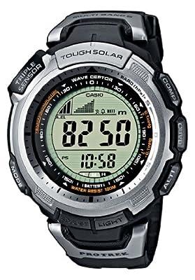 Casio Men's Digital Watch PRW-1300-1VER With Pro-Trek Solar Powered Triple Sensor Radio Controlled Resin Strap by Casio Pro-Trek