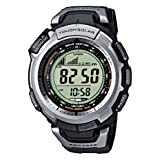 Casio Men's Digital Watch PRW-1300-1VER With Pro-Trek Solar Powered Triple Sensor Radio Controlled Resin Strapby PRO TREK