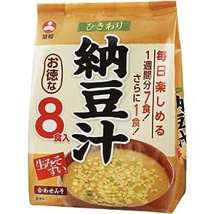 旭松食品 袋入生みそずいひきわり納豆汁(8食入)×10袋