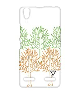Vogueshell Colorful Tree Pattern Printed Symmetry PRO Series Hard Back Case for Lenovo A6000