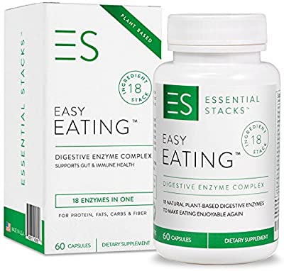 18 Powerful Digestive Enzymes In 1 - Gluten Free, Plant Based & Broad Spectrum. Made In USA.