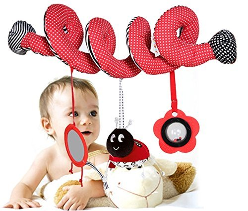 Tp Sky Beetle Mirror Musical Circle Round Stroller Toys for Baby - 1