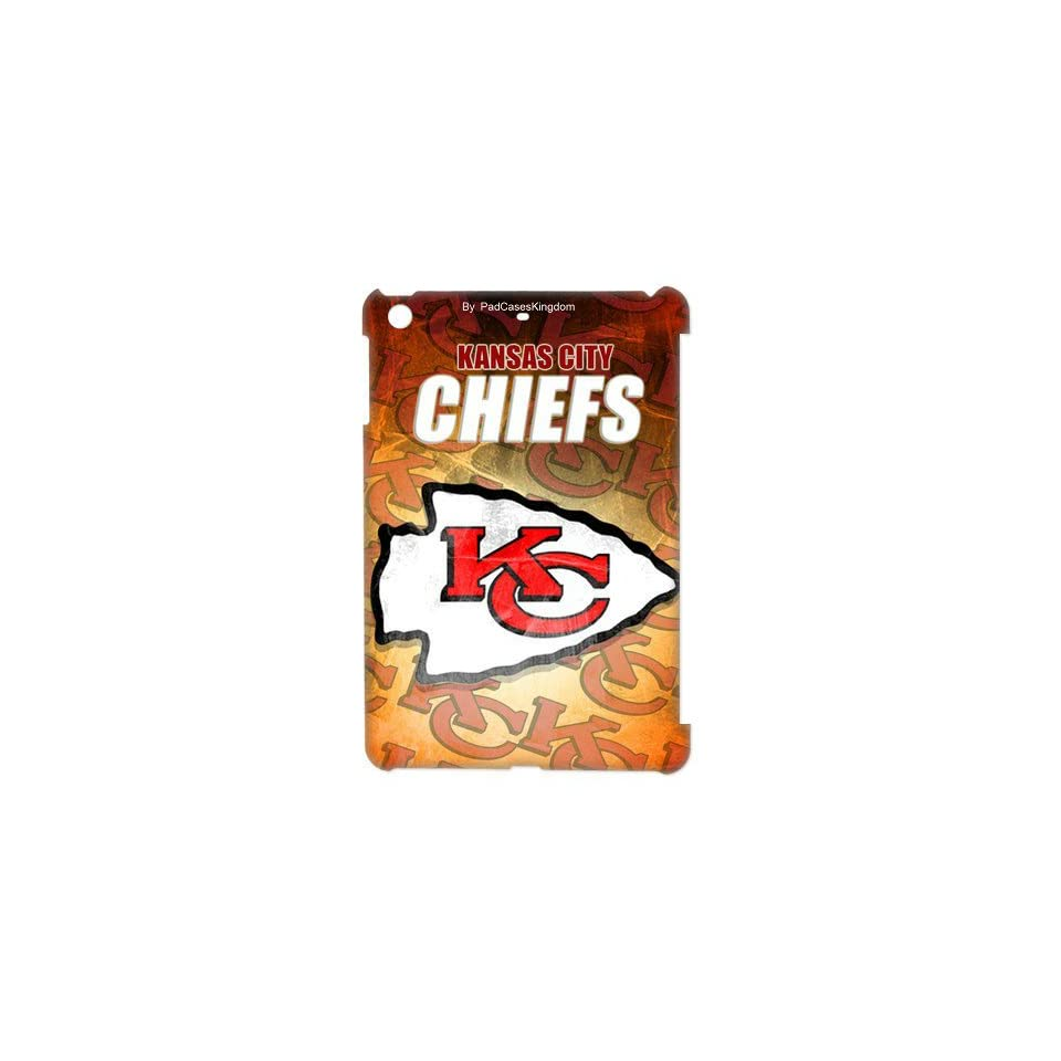 NFL Kansas City Chiefs theme hard case for iPad Mini, Retina iPad mini 2 by padcaseskingdom Cell Phones & Accessories