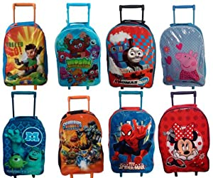 Kids Childs Boys Girls Trolley Bag Wheeled Suitcase Cabin - Disney & Character