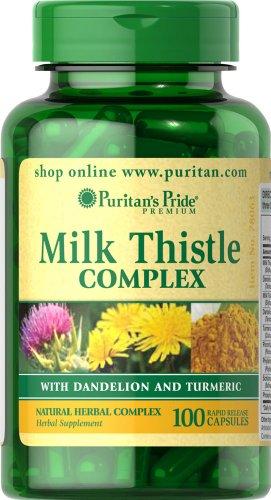 Puritan'S Pride Milk Thistle Complex With Dandelion & Turmeric-100 Capsules