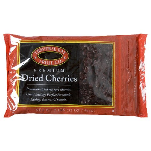 Traverse Bay Dried Fruit, Dried Cherries, 2-Pound Bags (Pack of 2)