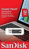 SanDisk SDCZ55-032G-B35Z 32GB Cruzer Facet USB 2.0 Drive - Black