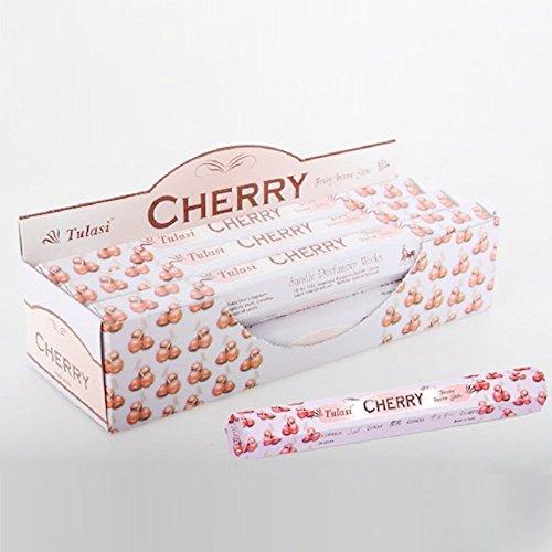 Incienso con aroma a cerezas en barritas (20 unidades)
