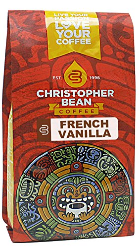 Christopher Bean Coffee Ground Flavored Whole Bean Coffee, French Vanilla, 12 Ounce (Coffee Bean French Vanilla compare prices)