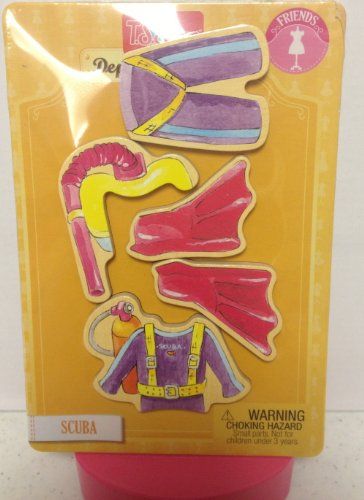 T.S. Shure Magnetic Wooden Dress-Up Clothes- Scuba Large Doll Clothing - 1