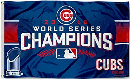 Chicago Cubs 2016 World Series Champions 3 x 5 Banner Flag 13115